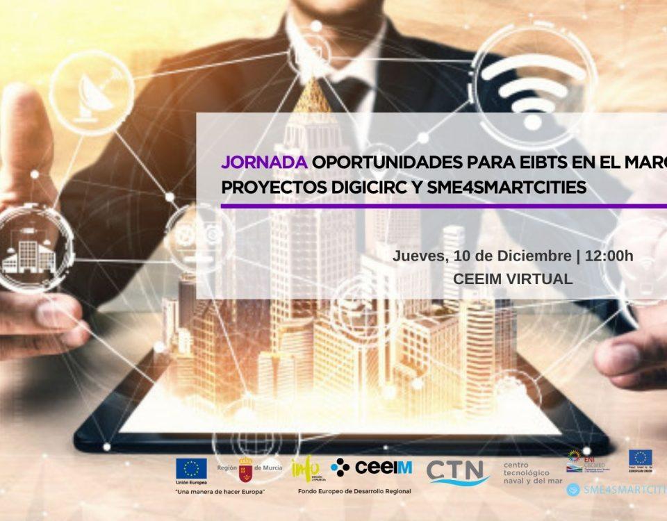 Jornada Oportunidades para EIBTS en el marco de los proyectos DIGICIRC Y SME4SMARTCITIES